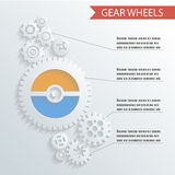 Abstract Gear Wheels Infographics Background. Concept Design Illustration Royalty Free Stock Images