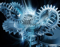 Free Abstract Gears Royalty Free Stock Image - 13829596