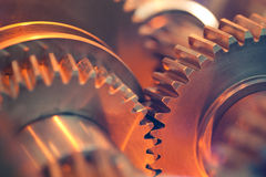 Abstract gears. Closeup view of abstract gears Royalty Free Stock Photos