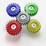 Abstract gears. Royalty Free Stock Photography