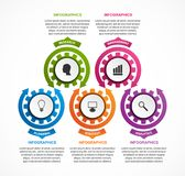 Abstract gears infographic. Design element. Infographics for business presentations or information banner. Vector illustration Royalty Free Stock Images
