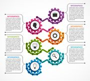 Abstract gears infographic. Design element. Infographics for business presentations or information banner. Vector illustration Stock Photos