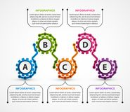 Abstract gears infographic. Design element. Infographics for business presentations or information banner. Vector illustration Stock Images