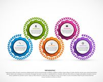Abstract gears infographic. Design element. Infographics for business presentations or information banner. Vector illustration Royalty Free Stock Image