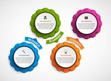 Abstract gears infographic. Design element. Infographics for business presentations or information banner. Vector illustration Royalty Free Stock Photos