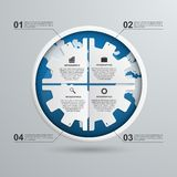Abstract gears infographic. Design element. Stock Images