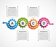 Abstract gears infographic. Design element. Vector illustration Royalty Free Stock Images