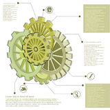 Abstract gears infographic design for your business promotional artwork Stock Image