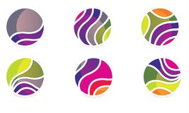 Abstract Gebied Logo Vector Moder Rounded Logo Stock Afbeelding