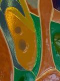 Abstract gebrandschilderd glas gekleurd glas Royalty-vrije Stock Foto