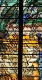 Abstract gebrandschilderd glas, Kerk van St Gervais en St Protais, Parijs Stock Foto's