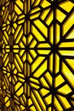 Abstract gebrandschilderd glasvenster op het kuuroordcentrum Bloemen patroon Royalty-vrije Stock Fotografie