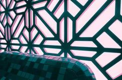 Abstract gebrandschilderd glasvenster op het kuuroordcentrum Bloemen patroon Royalty-vrije Stock Afbeeldingen