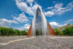 Abstract gedenkteken in Boedapest, Hongarije Royalty-vrije Stock Foto