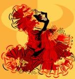 Abstract geel beeld van flamenco Stock Foto