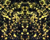Abstract geel bokehbehang Royalty-vrije Stock Foto