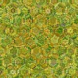 Abstract geel en groen laag poly ononderbroken patroon als achtergrond Stock Afbeelding