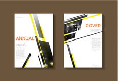 Abstract Geel modern de Brochuremalplaatje van het dekkingsboek, ontwerp, ann royalty-vrije illustratie