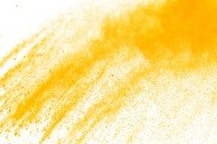 Abstract geel poeder Royalty-vrije Stock Foto's