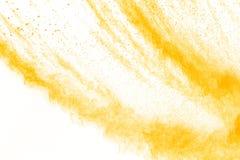 Abstract geel poeder Stock Foto's