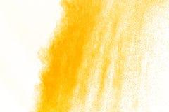 Abstract geel poeder Stock Fotografie
