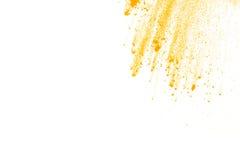 Abstract geel poeder Stock Afbeeldingen