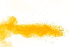 Abstract geel poeder Royalty-vrije Stock Afbeelding