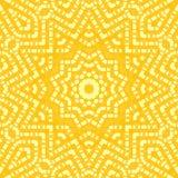 Abstract geel sterornament Stock Afbeeldingen