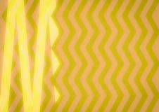 Abstract Geel Zigzagpatroon Stock Fotografie