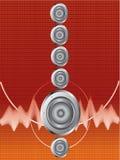 Abstract geluid 5.1 Stock Foto's