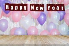 Abstract Gelukkig Nieuw jaar 2018 met ballonachtergrond Stock Afbeeldingen