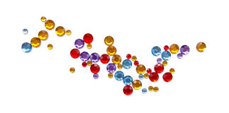 Abstract gems pattern Royalty Free Stock Image