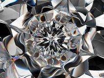 Abstract Gemstone or diamond texture closeup and kaleidoscope royalty free stock images