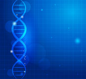 Abstract gene chain. Background. Can be used as medical, genetic, pharmaceutical, science industries. Beautiful blue color Stock Photography