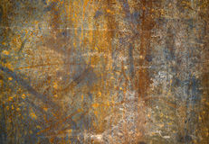 Abstract generated textured rust metal surface. Abstract textured rust metal surface background retro Stock Photography