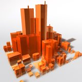 Abstract generic city. With modern office buildings illustration stock illustration
