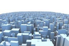 Abstract City Skyline 3D Simple Blocks Buildings. Abstract and generic 3d simple city blocks buildings skyscrapers skyline landscape Stock Image