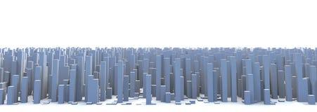Abstract City Skyline 3D Simple Blocks Buildings. Abstract and generic 3d simple city blocks buildings skyscrapers skyline landscape Royalty Free Stock Photos
