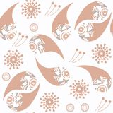 Abstract gentle colors vector Paisley seamless pattern. It is located in swatch menu royalty free stock image