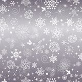 Abstract gentle violet Christmas seamless pattern stock photography