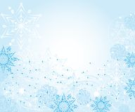 Abstract gentle winter frame with snowflakes Royalty Free Stock Image