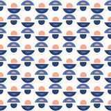 Abstract Geo Dot Vector Pattern Blue en Wit Royalty-vrije Illustratie