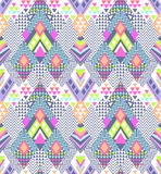 Abstract geo zigzag design in young Aztec style - seamless background Royalty Free Stock Photo