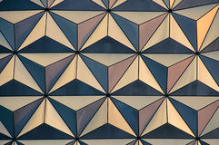 Abstract geodesic triangle pattern. An abstract pattern of triangles from the side of a geodesic dome stock images