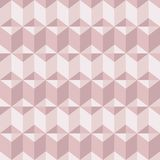 Abstract geomeric background in blush pink colors. Millennial pink rose gold, crystal texture. Seamless vector pattern. 3D surface background royalty free illustration