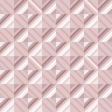 Abstract geomeric background in blush pink colors. Millennial pink rose gold, crystal texture. Stock Images
