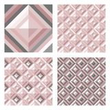 Abstract geo pattern in blush pink colors. Set of 3D surface backgrounds. Abstract geomeric background in blush pink colors. Millennial pink rose gold, crystal Royalty Free Stock Photography