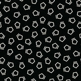 Abstract geometrc black and white deco art memphis fashion pentagon pattern Royalty Free Stock Photo