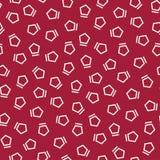 Abstract geometrc red deco art memphis fashion pentagon pattern Stock Image