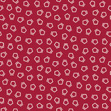 Abstract geometrc red deco art memphis fashion pentagon pattern Stock Images